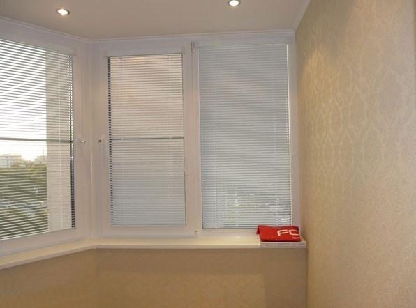 Остекление балконов - фото окна в клину.