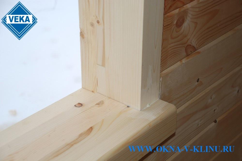 Окосячка для пластиковых окон в деревянном доме  752
